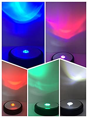 """SunRise Multi-Function 5 Colored Adjustable LED Light-3.8"""" Photo Album & Crystal Display Stand By Crystal"""