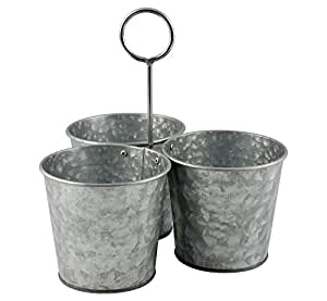 Amazon store indya set of 3 metal planters flower pots store indya set of 3 metal planters flower pots containers decorative for home indoor outdoor workwithnaturefo
