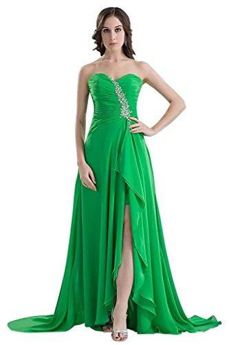 GEORGE Abendkleid Perlen Charming aufgeteilt Frontsplit Grün BRIDE qPwa1qfxB