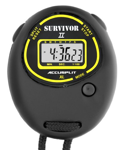 Accusplit Survivor Stopwatch - ACCUSPLIT Survivor II S2XL Stopwatch, Clock (Black)