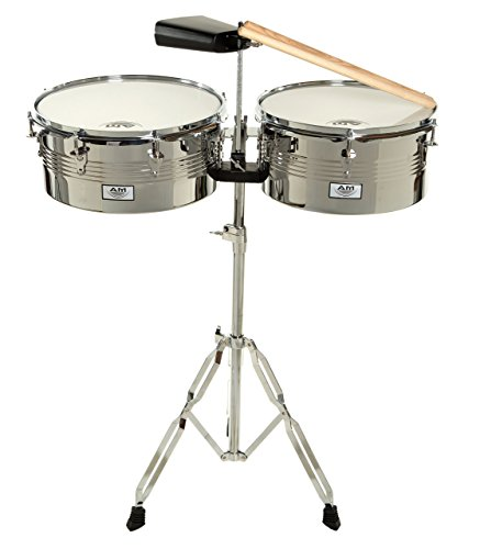 AM Percussion Libre Timbale Set with Stand and Cowbell by AM Percussion