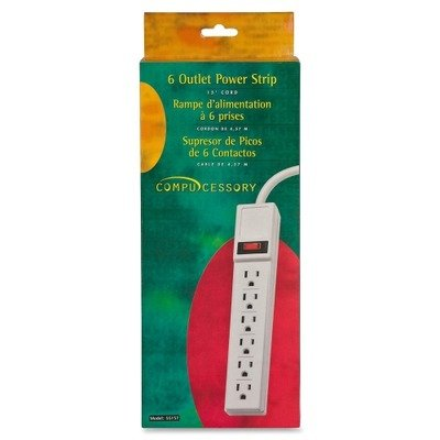amazon com compucessory products power strip 6 outlet built in rh amazon com