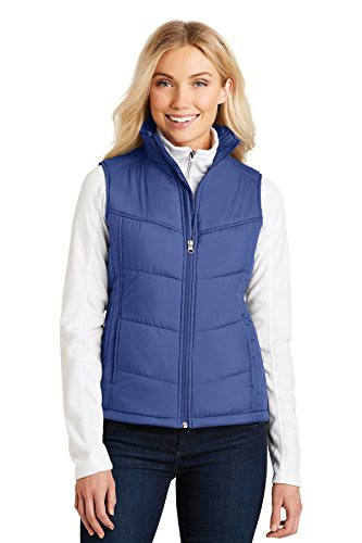 (Port Authority Womens Puffy Vest L709 -Mediterranea XL)
