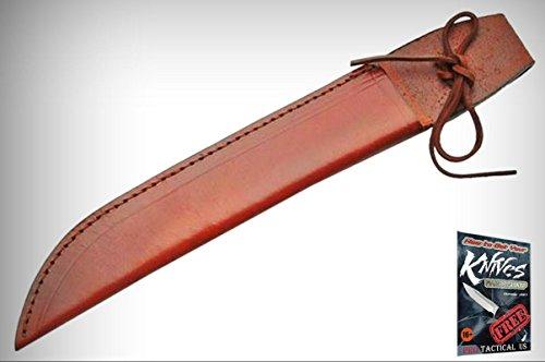 FIXED-BLADE Elite Knife BELT SHEATH Brown Leather 14