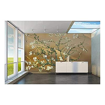 Unbelievable Piece of Art, Gold Almond Blossom by Vincent Van Gogh Wall Mural, Quality Creation