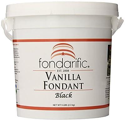 Fondarific Vanilla Black Fondant, 5-Pounds