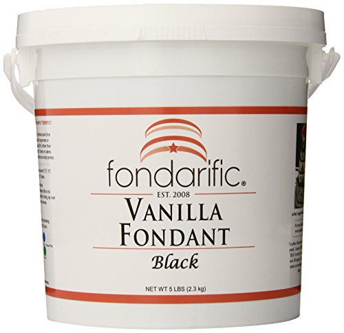 Fondarific Vanilla Black Fondant, 5-Pounds by Fondarific