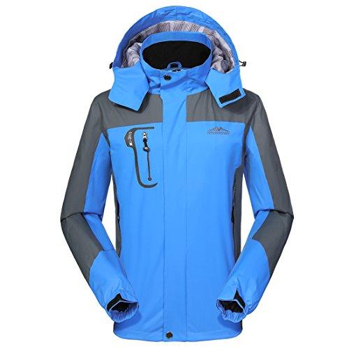 Waterproof Jacket Mens raincoats-GIVBRO 2017 New Design Outdoor Hooded Lightweight Softshell Hiking Jackets