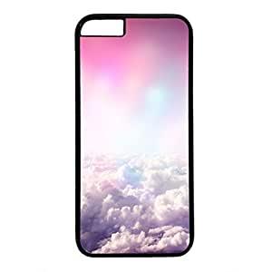 Hard Back Cover Case for iphone 6 Plus,Cool Fashion Black PC Shell Skin for iphone 6 Plus with Colorful Clouds