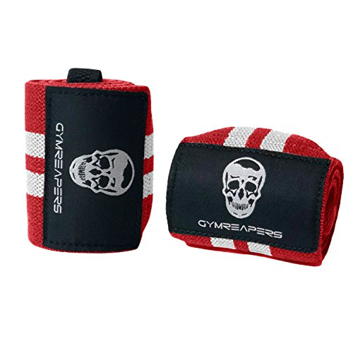 Gymreapers Weightlifting Wrist Wraps (Competition Grade) by 18