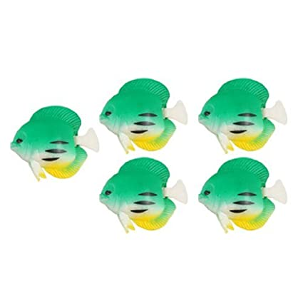 Amazon.com: eDealMax ornamento del acuario Artificial oscilación de la cola flotante Pez, Verde: Pet Supplies
