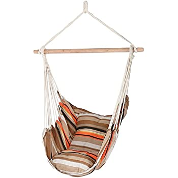 Amazon.com : Prime Garden Hanging Rope Hammock Chair Porch Swing ...