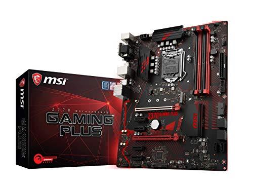 MSI Performance Gaming Intel 8th Gen LGA 1151 M.2 D-Sub DVI DP USB 3.0 Gigabit LAN CFX ATX Motherboard (Z370 Gaming Plus) (Certified Refurbished)