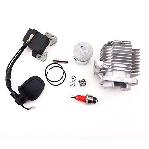 TC-Motor L7T Spark Plug + Ignition Coil + 40mm Cylinder Head + 10mm Piston Pin For 2 Stroke 47cc Engine Mini Kids ATV Pocket Dirt Bike Go - Pin Piston Atv