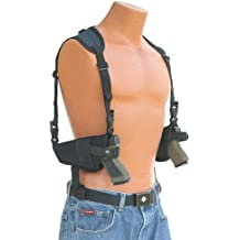 "This horizontal double shoulder holster fits all Auto's with 4"" to 5"" barrels Beretta,Bersa,Browning,CZ,Colt,Glock,H&K,Hi-Point,Kimber,Ruger,Sig Sauer,Smith & Wesson,SpringField,Star,Taurus,Walther"