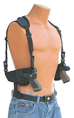 This horizontal double shoulder holster fits all Auto's with 4.5