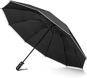 Veckle Safety Auto Open/Close Compact Foldable Umbrella