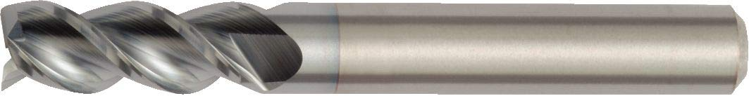 Right Hand Cut 20 mm Cutting Dia 20 mm Shank Dia 3-Flute Carbide Uncoated Straight Shank 4103 HP Aluminum End Mill WIDIA Hanita 410320007