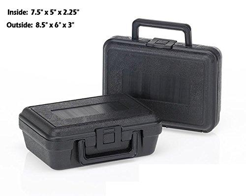 HUNSAKER USA: Hard Case Universal Storage Box (Inside Dimensions: 7.5'' x 5'' x 2.25'' - Black)