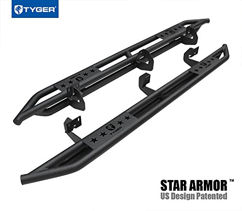 Tyger Auto Tyger TG-AM2F20118 Star Armor Kit for 2009-2014 Ford F-150 SuperCrew Cab | Textured Black | Side Step | Nerf Bars | Running Boards