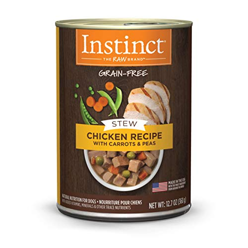 Instinct Grain Free Stews Chicken Recipe with Carrots & Peas Natural Wet Canned Dog Food by Nature's Variety, 12.7 oz. Cans (Case of 6) ()