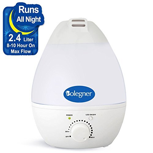 Innoo Tech F, Ultrasonic Cool, 180ML USB Portable Mist Air Humidifier for Your Home, Office, Desk, Travel, Bedroom, Baby Room, 4L, White