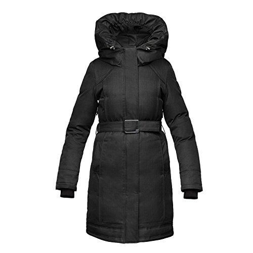 Nobis The Astrid Insulated Parka Hooded Down Coat - CH Bl...