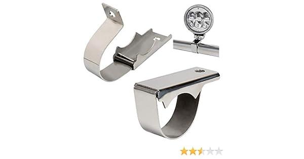 TRUCK DUCK - Abrazadera universal de acero inoxidable para faros de camión, 60 mm: Amazon.es: Coche y moto