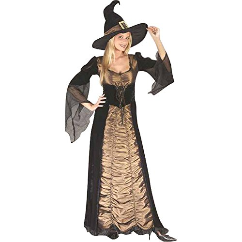 [Women's Elegant Coffin Witch Costume (Size: Medium 8-14)] (Elegant Coffin Witch Costumes)