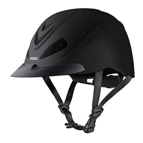 Troxel Liberty Black Duratec Horse Riding Helmet Low Profile Adjustable (Small)