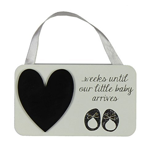 Baby Countdown Chalkboard Plaque Baby Shower Gift by Wendy Jones Blackett