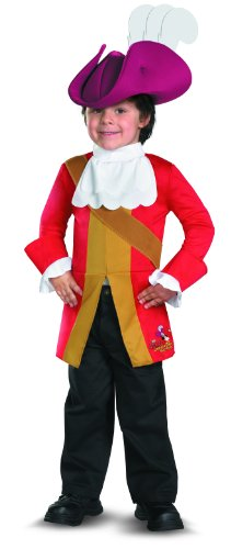Disguise Boy's Disney Junior Jake and The Neverland Pirates Captain Hook Classic Toddler Costume, 3T-4T