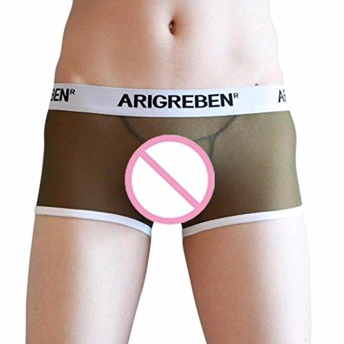 iZHH Trunks Sexy Underwear Men's Boxer Briefs Shorts Bulge Pouch Underpants(Amry ()