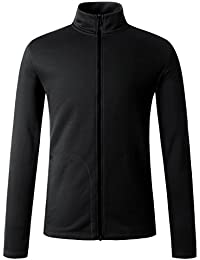 Men's Lightweight Performance Fleece Hooded/Stand-up Neck Jacket