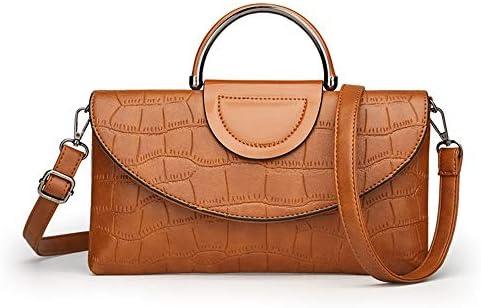 ハンドバッグ - 気質ワニ革トートバッグ、ショルダーバッグメッセンジャーバッグ、29センチメートル* 2センチメートル*の16センチメートル よくできた (Color : Brown)