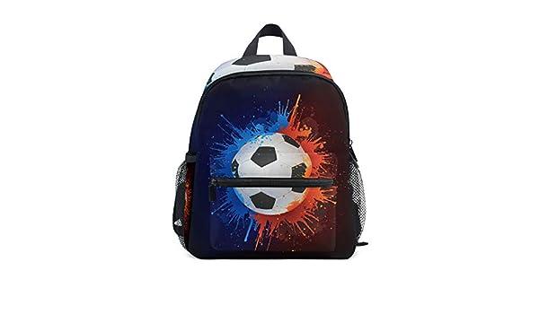 DOSHINE Mochila para niños pequeños, Acuarela Deportiva, balón de ...
