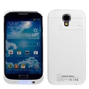 Samsung Galaxy S4 I9500 Powerbank Negro Emergencia De Respaldo De Batería 3200Mah Caja De La Carpeta Con El Soporte De La Visión Integrada-Blanco