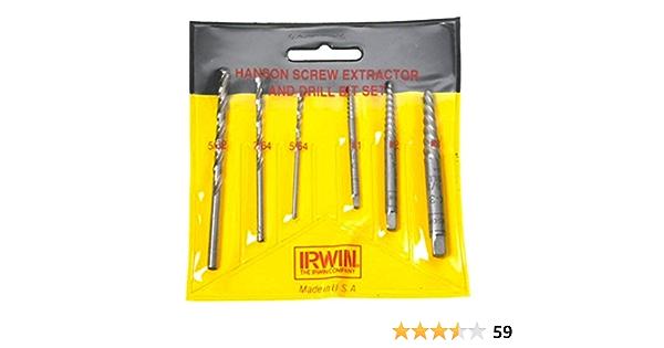 Irwin Industrial Tool .08in Spiral Screw Extractor /& Drill Bit Set 53701