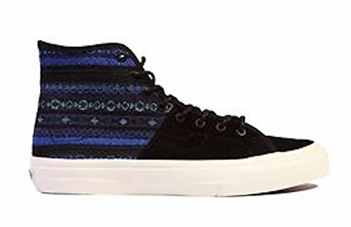 Vans Men's Sk8-Hi Decon SPT Ca Italian Weave Blue/Black Ankle-High Fabric Fashion Sneaker - 10M