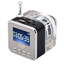 HDE 3-in-1 Portable Digital Mini Speaker with USB and SD/TF Inputs-MP3 Player, FM Radio
