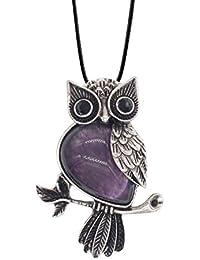 Owl Necklace Healing Pendant Nekclace for Women Men...