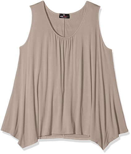 Excite Clothing Plusslouch, Débardeur Femme, Marron (Mocha), 46 (Taille Fabricant: 18)