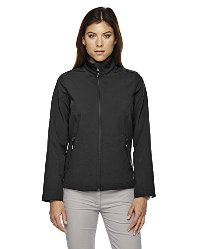 Core 365 Womens Cruise Two-Layer Fleece Bonded Soft Shell Jacket (78184)- Black 703,Small (Coast Cruise Jacket)