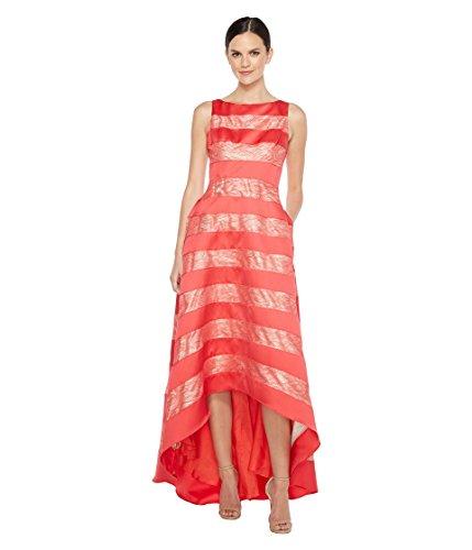 滝暴徒懐疑論[アドリアナパペル] Adrianna Papell レディース Striped Lace & Mikado Hi-low Dress ドレス [並行輸入品]
