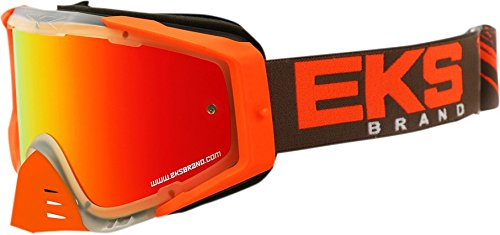 EKS Brand EKS-S Outrigger Adult Dirt Bike Motorcycle Goggles Eyewear - Clear/Flo Orange/Smoke One Size Fits - Best Goggles Of Brand