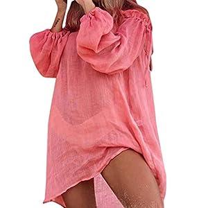 Copricostume Donna Pareo Elegante Costumi Bikini Cover Up Mare Abito Spiaggia Vestito Bagno Estivi Kimono Fotografia… 6 spesavip