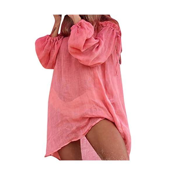 Copricostume Donna Pareo Elegante Costumi Bikini Cover Up Mare Abito Spiaggia Vestito Bagno Estivi Kimono Fotografia… 1 spesavip