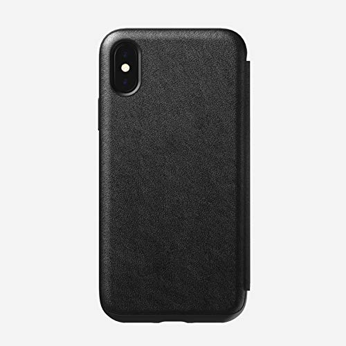 Nomad Rugged Folio for iPhone X | Black Horween Leather