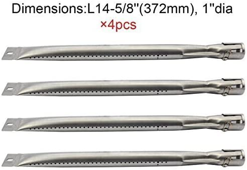 Amazon Com 4 Pack Replacement Straight Stainless Steel Pipe Tube Burner For Bbq Tek Bond Brinkmann Part Grill King Part Master Cook Presidents Choice Lowes Model Grills Oem Odm Garden Outdoor