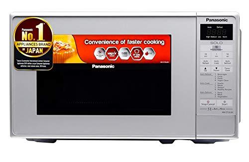 Panasonic 20L Solo Microwave Oven (NN-ST26JMFDG, Silver, 51 Auto Menus)